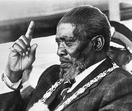 His Excellency The Honourable Mzee Jomo Kenyatta C.G.H. Jomo Kenyatta (/ˈdʒoʊmoʊ kɛnˈjɑːtə/; c. 1894 – 22 August 1978) was the leader of Kenya from independence in 1963 to his death in 1978, serving first as Prime Minister (1963–64) and then as President (1964–78). He is considered the founding father of the Kenyan nation.