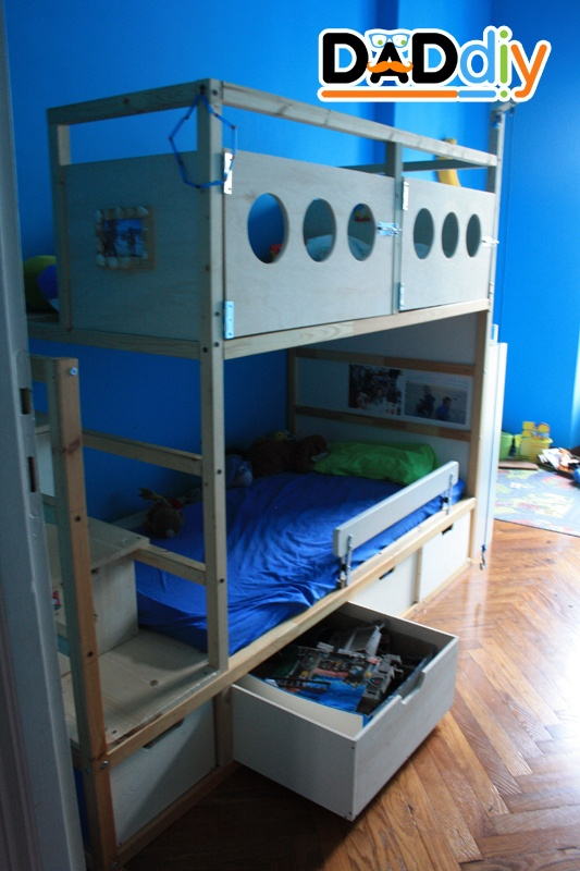 Drawer Under First Bed Ikea Kura Bed Transformation