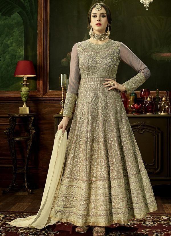260bcfefe8 Embroidered Art Silk Wedding Anarkali Suit   Anarkali Suits   Bridal ...