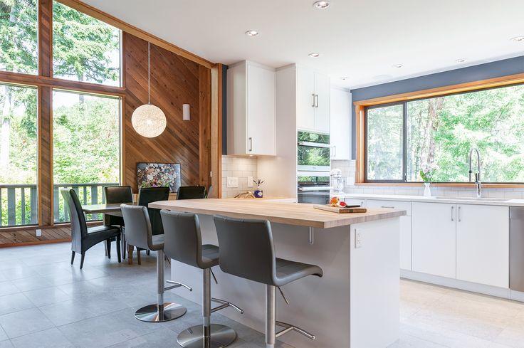 1980's Cedar House Gets a Scandinavian Inspired Kitchen