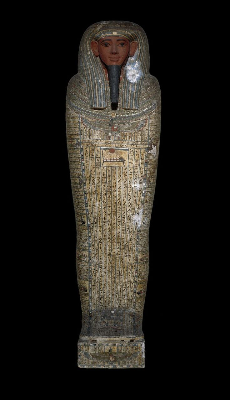 Base and lid of the anthropoid wooden coffin of #Besenmut ...