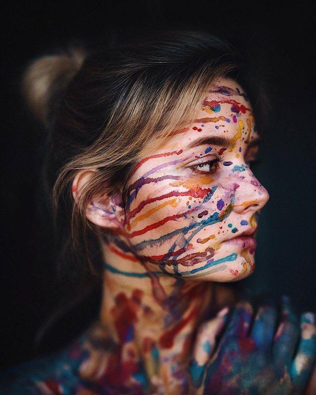 Редактирование фотографии красками