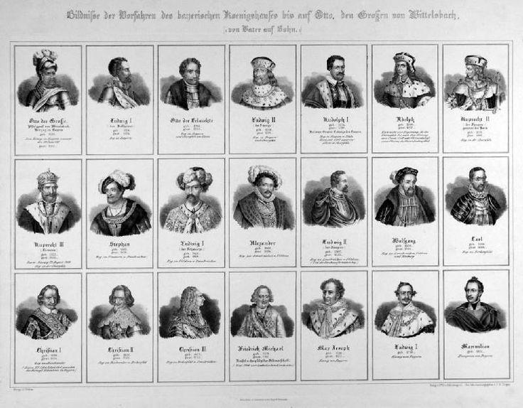 Unique  Portr ts der Linie Rheinpfalz Zweibr cken Birkenfeld von Otto von Wittelsbach bis K nig Maximilian
