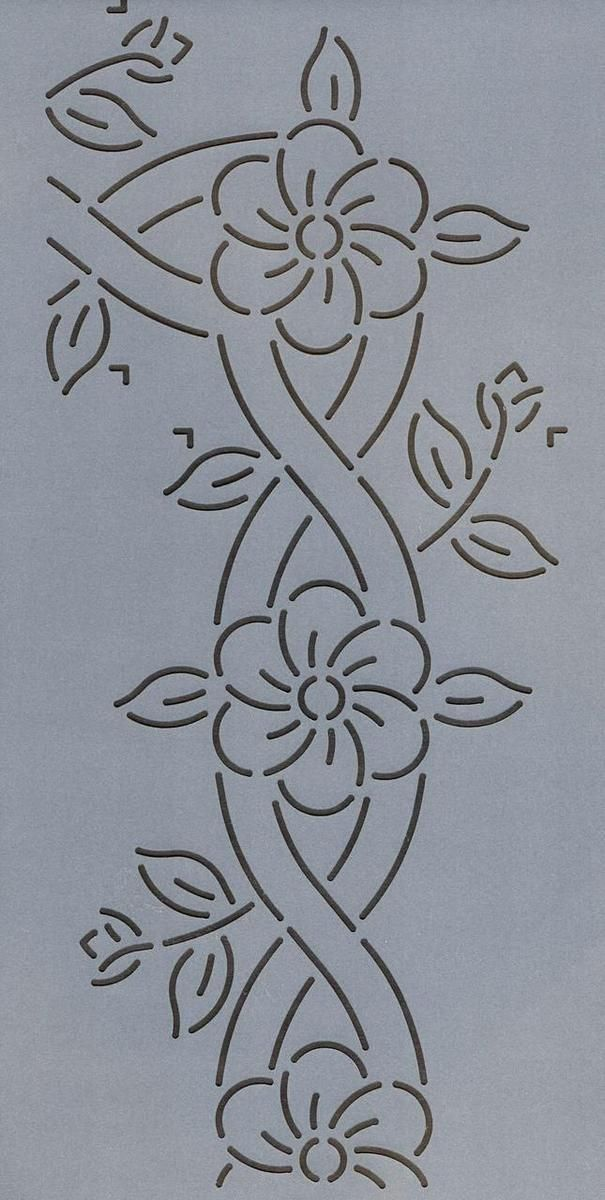 """Cable and Flower Border 8.5"""" - The Stencil Company"""