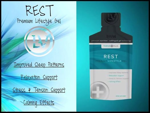 www.behealthy4you.le-vel.com  premium gel formula created to support sleep health, giving the body essential nutrients needed to offer a restful and calming effect, relaxation support, and assist with stress management. REST is a dual action formula developed to help the body not only go to sleep, but stay asleep, and wake up refreshed. For best results, combine REST with your Thrive 8 Week Experience - Premium Lifestyle Capsules, Premium Lifestyle Shake Mix, and Premium Lifestyle DFT!