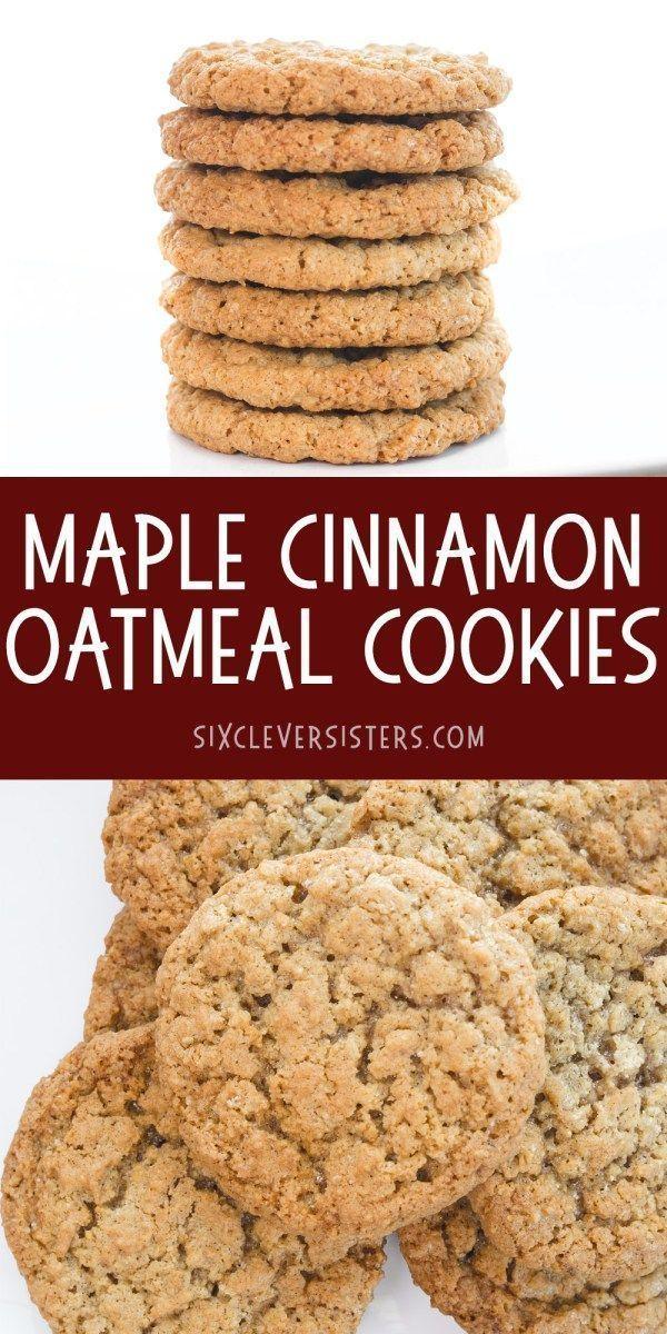 Oatmeal Cookies: Maple Cinnamon Oatmeal Cookies taste just like maple cinnamon instant oatmeal! Chewy & delicious Oatmea…