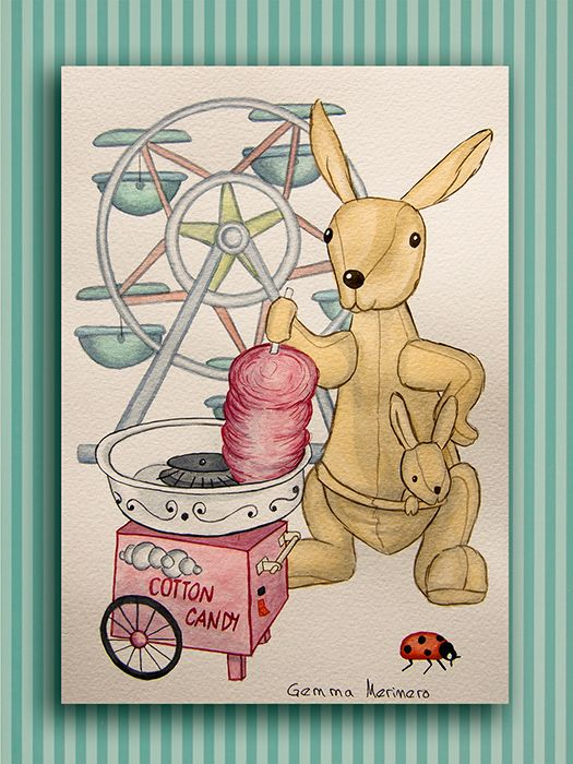 Canguro y algodón dulce. (Gemma Merinero)