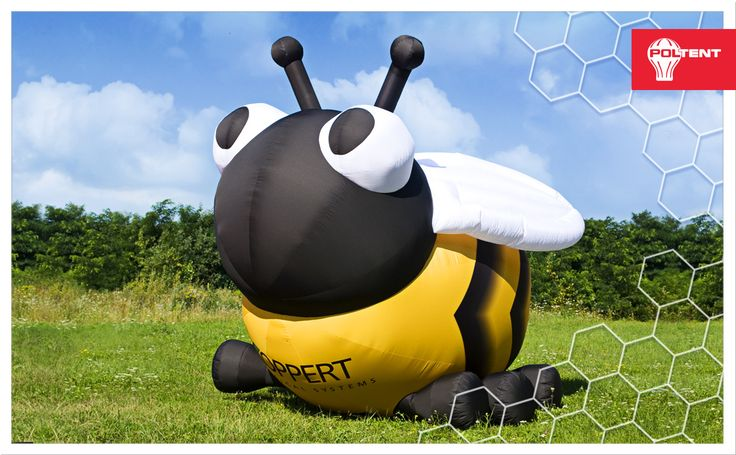 Aż 2,5 metra! Ale nie należy się go obawiać! 😉 🐝Trzmielik słodko pozdrawia! 🍯 🤗  📐 2,5 meter high! But don't be scared! 😉 🐝 Sweet greetings from little bumblebee! 🍯 🤗  #Poltent #inflatable #outdoor #ad #advertising #outdooradvertising