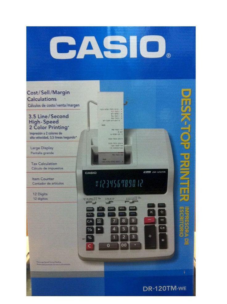 Calculadoras Casio con Impresor DR 120 TM