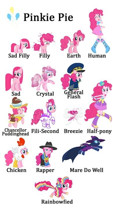 Instead of 50 shades of grey its now 14 shades of Pinkie pie