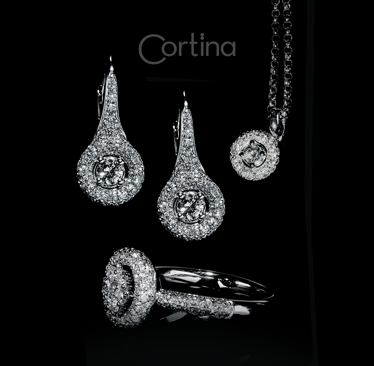 Cortina Collection - #digregorio_milano #digregoriogioielli_milano #whitediamonds #whitegold #ring #necklace #earrings #solitary #cortina #wedding #jewel #jewellery #finejewellery #luxury