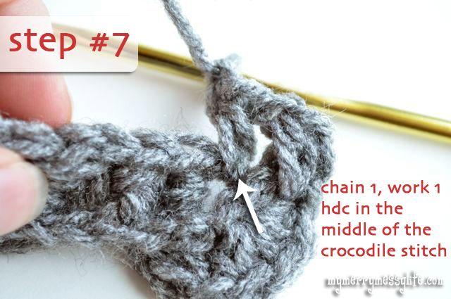 My Merry Messy Life: Crochet Crocodile Stitch Tutorial