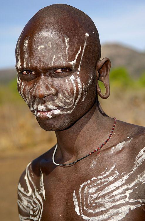Mursi man, Omo Valley, Ethiopia