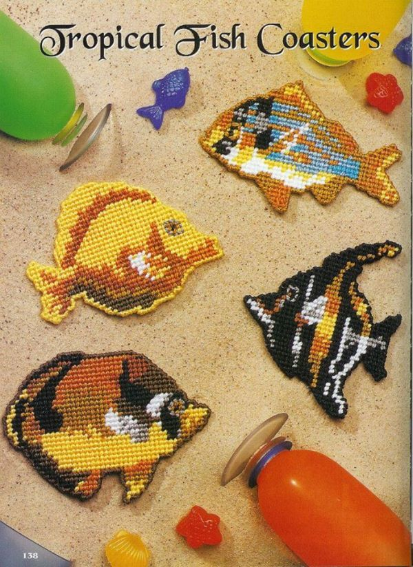 TROPICAL FISH COASTERS 1/2