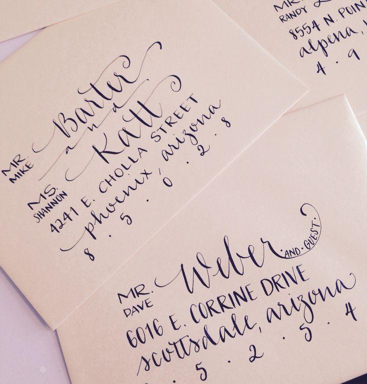 Hand addressed calligraphy envelopes