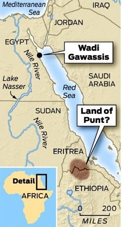 Land of Punt. Land of frankincense and myrrh. The end of the Amarna period marked the conclusion of the Thutmosid 18th Dynasty of Egypt. King Tutankhamun and his relatives were to be the last descendants of one of the ancient pharaonic families, sometimes said to have ancestral links with the Land of Punt (near the Horn of Africa).
