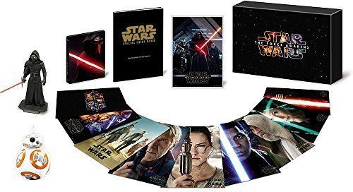 STAR WARS Force Awakens Premium Blu-ray DVD Steelbook BOX 2016 BB-8 from Japan