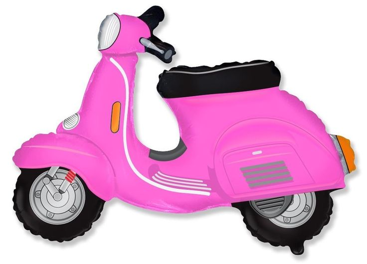 36 xl balloon pink scooter cute party favors decoration for Vespa decoration