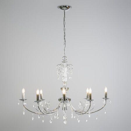 Kronleuchter Padova 8 Chrom Wunderschöner Kristall  Kronleuchter, Eine  Harmonische Verbindung Zwischen Klassik Und Moderne.