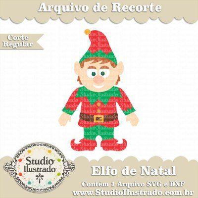 Elfo de Natal, Christmas Elf, Ajudante de Papai Noel, Christmas, Natal, Navidad, Feliz Natal, Merry Christmas, Feliz Navidad, Regular Cut, Corte Regular, Silhouette, SVG, DXF, PNG