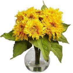 Silk 12-inch Sunflower Arrangement