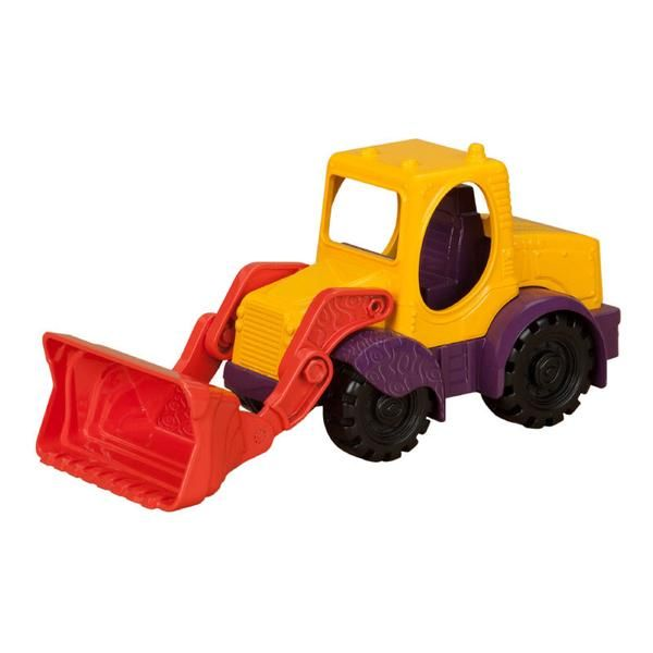 B Toys Sand truck, lille bulldozer m. skovl - rød