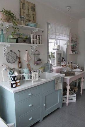 20 inspirierende shabby chic k chen design ideen kitchens pinterest shabby chic kitchen. Black Bedroom Furniture Sets. Home Design Ideas