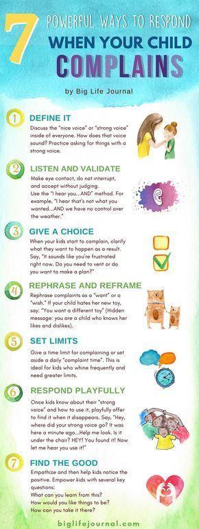7 Leistungsstarke Möglichkeiten zu reagieren, wenn Ihr Kind sich beschwert
