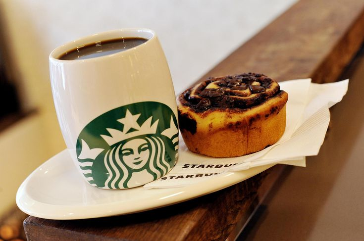 A Starbucks coffee and a Danish pastry. The coffee chain is bring back some old