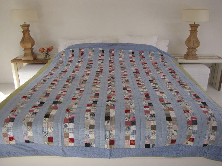 Handgemaakte quilt nummer 14 240 cm 260cm €225,00 | VIA CANNELLA WOONWINKEL | CUIJK