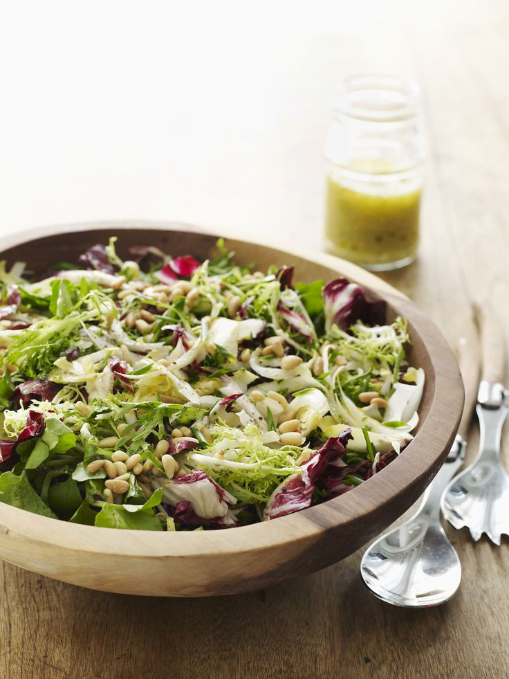 Leafy Greens And Pine Nut Salad Myplate Myplate Salads Pinterest Salad Recipes And Food