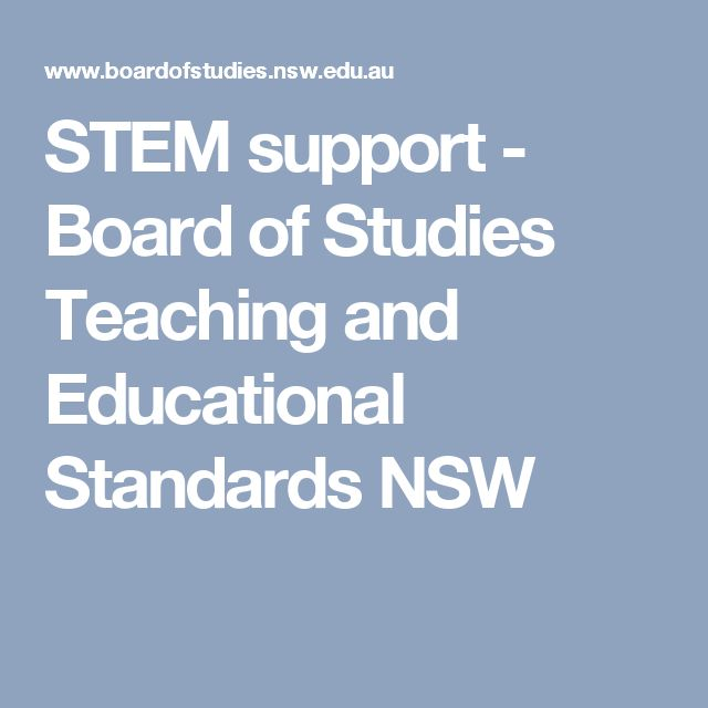 STEM support - Board of Studies Teaching and Educational Standards NSW