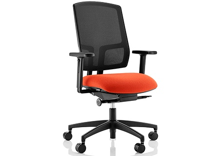 Felix combines comfort, aesthetic styling and functionality, it delivers an encased height adjustable mesh-back which provides flexibility for the user along with a new breed of syncronised mechanism.   Features include:  - 15 Vibrant mesh colours available.   - 3 degree forward seat tilt.   - Synchronised Mechanism.   - Side tension control easily adjusted from seated position.   - 70mm seat slide controlled by soft-touch button.   - Optional multi adjustable armrests.   - Optional polished…