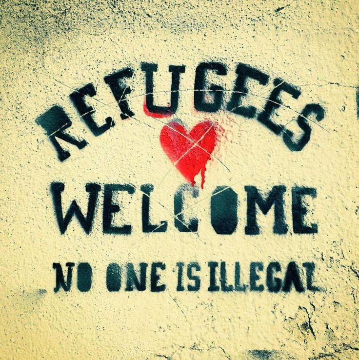 Refugees welcome no one is illegal #ArtForAmnesty #RefugeeCrisis #RefugeesWelcome #OpenToSyria