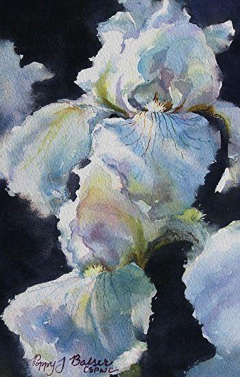Flurry of Petals by Poppy Balser Watercolor ~ 10 x 7