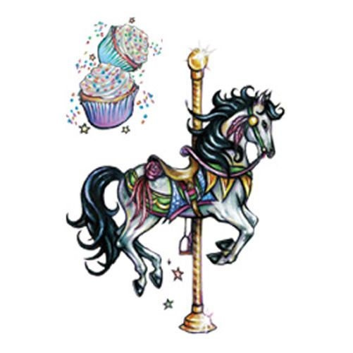 carousel horse tattoo - For Grandma Elsie