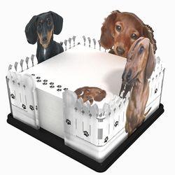 Dachshund Fence Acrylic Sticky Note Holder Stationary Rescuewiener Dogsdog Artoffice Suppliesnote