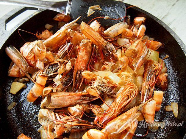 soup with shrimps / sopa de gambas
