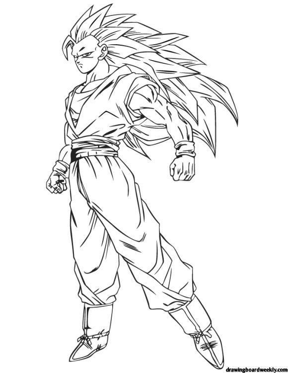 Coloring Page Dragon Ball Z Goku Dragon Ball Goku Anime Dragon Ball Goku Goku Drawing
