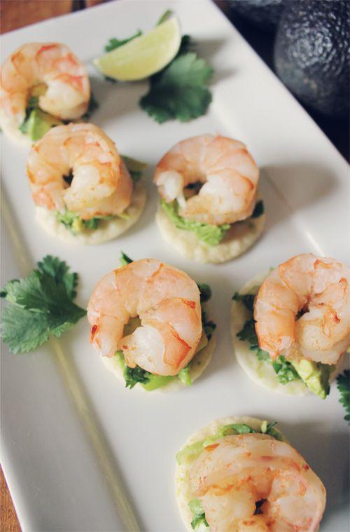 Easy & Fast Appetizer Recipe: Spicy Prawns with Zesty Avocado Spread ...