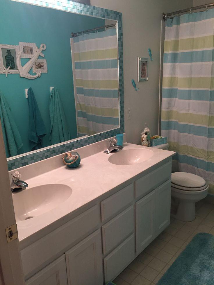Tiled Bathroom Mirror Frame - No Grout!