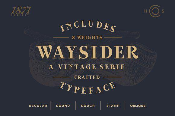 Waysider A Vintage Serif Serif Serif Fonts Vintage Fonts