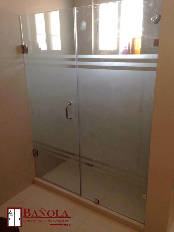 Hermoso cancel puerta y fijo en cristal templado de 10 mm - Vidrios para puertas ...