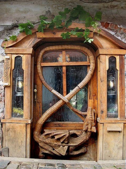 Dragon door at Krumlov House…Czech Republic
