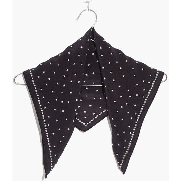 MADEWELL Silk Bandana ($25) ❤ liked on Polyvore featuring accessories, scarves, true black, silk wrap shawl, wrap shawl, wrap scarves, silk scarves and madewell