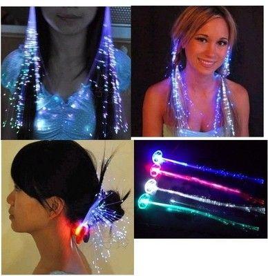 Halloween 4pcs Popular Hair Neon Glow in Dark Costume Masquerade Fancy Party | eBay