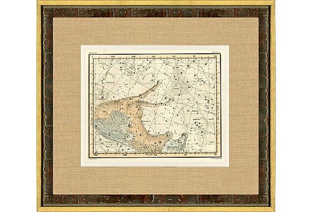 Pegasus Constellation Map, 1822 on OneKingsLane.com