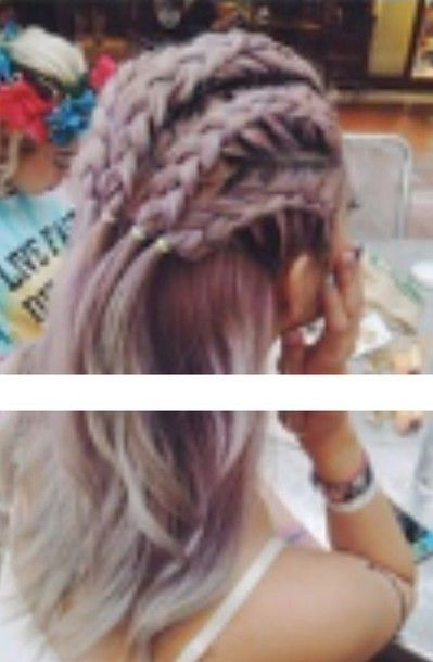 Hair accessory: purple, goth, grunge, hairstyles - Wheretoget