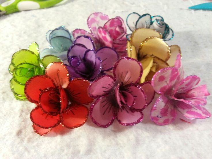 My homemade flowers