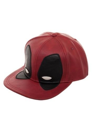207aa2f84243a Deadpool Big Face Distressed PU Snapback Hat Face